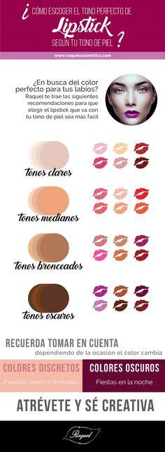 Vea algunas recomendaciones que te ayudara a elegir el lipstick perfecto de acuerdo a tu tono de piel
