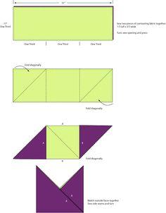 pliage pour sac origami