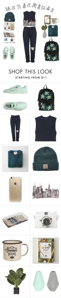 """""""+"""" by con-stellation ❤ liked on Polyvore featuring Puma, Christopher Kane, Topshop, ADAM, Acne Studios, Diamond Supply Co., Rifle Paper Co, ArtBin, KEEP ME and Gentlemen's Hardware"""