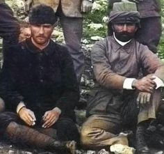 Mustafa Kemal and Enver Pasha during Italo-Turkish War colorized History, Film, Poster, Painting, Art, Stencils, Father, People, Pictures