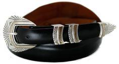 """Navajo Two Tone 1"""" Ranger Belt Buckle - MM16.028-C"""