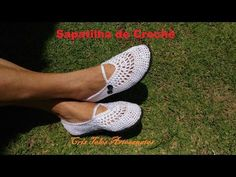 Sapatilha de Crochê - YouTube