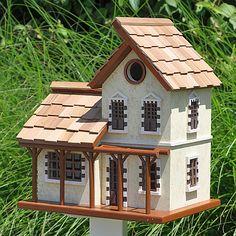 Queen's Hamlet Garden Cottage Birdhouse