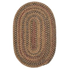 Home Decorators Collection Winchester Evergold 8 ft. x 10 ft. Oval Braided Area Rug