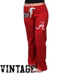 Alabama Crimson Tide Womens Relaxed Sweatpants - Crimson