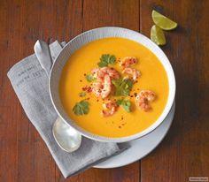 Kürbis-Kokos-Suppe mit Garnelen Rezept - ESSEN & TRINKEN