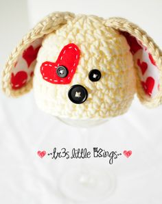 Puppy Hat Newborn,Valentine