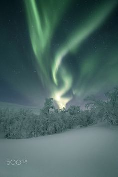 """Aurora Borealis by Andreas Gehrig - """"Taken at a nice trip with our car from Tromso to the Lofoten Islands."""""""