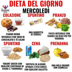 Dieta rapida, 3 giorni per perdere peso - diet - Tips Fitness, Fitness Nutrition, Healthy Life, Healthy Eating, Balanced Meals, No Calorie Foods, Nutrition Information, Light Recipes, Menu Planning