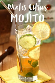 Winter getting you down? Bring back the summer feels with the winter twist on the #Mojito! Now go grab the rum and get ready to celebrate the snow with this simple #cocktail!