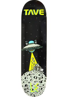 L.E.-Skateboards Tave-Moon-Mine, Deck, black Titus Titus Skateshop #Deck…