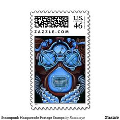 Steampunk Masquerade Postage Stamps