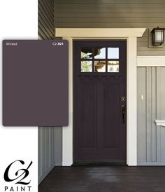 Front Door Paint Colors - Want a quick makeover? Paint your front door a different color. Here a pretty front door color ideas to improve your home's curb appeal and add more style! Dark Paint Colors, Front Door Paint Colors, Painted Front Doors, Best Front Door Colors, Neutral Paint, Gray Paint, Best Exterior House Paint, Exterior Paint Schemes, Exterior House Colors