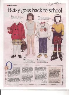 Betsy McCall goes back to school 1995