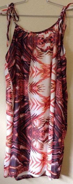 NWT THE WALLFLOWER Large Draped Orange White Tropical  Tank Maxi Dress Australia  | eBay