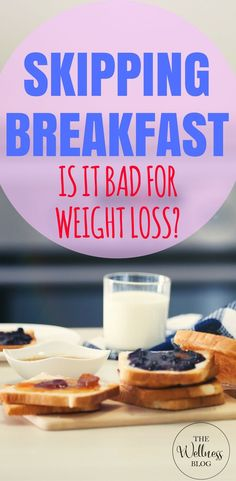 THE WELLNESS BLOG IS SKIPPING BREAKFAST BAD FOR WEIGHT LOSS? #weightloss #diet #food #thewellnessblog