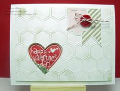 Handmade Valentine Shaker Card www.mystamplady.com