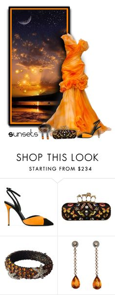 """Halloween Night Sunsets"" by helenehrenhofer ❤ liked on Polyvore featuring Trilogy, Giuseppe Zanotti, Alexander McQueen and Kenneth Jay Lane"