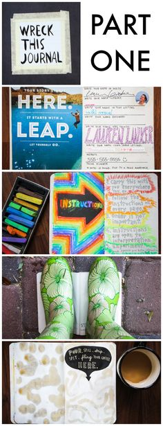Wreck This Journal Part 1: Journal Exercises in Creative Recklessness via thinkingcloset.com