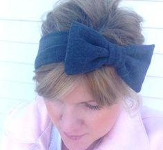 Stretch bow headband #bows #bowheadband #retro #bow