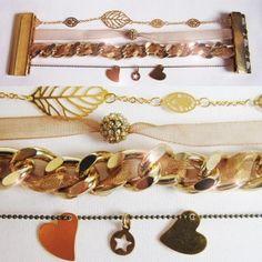 "bracelet ""Manchette dorée"""
