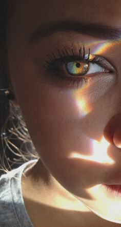 The color of the eye is artsy as well as the lighting.