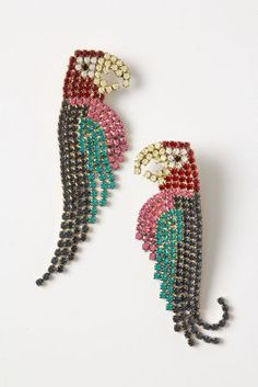 macaw earrings / elizabeth cole