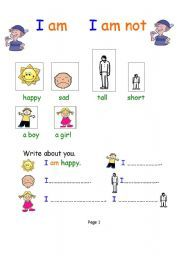 English worksheet: Verb to be for young learners
