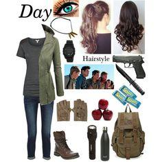 Designer Clothes, Shoes & Bags for Women Zombie Apocalypse, Apocalypse Fashion, Disney Themed Outfits, Movie Inspired Outfits, Girls Fashion Clothes, Girl Outfits, Fashion Outfits, Runners Outfit, Maze Runner Movie