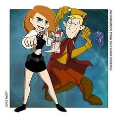 Kim and Ron as Amy and Rory also: Rufus as the Doctor....This, now this is AMAZAING