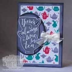 Stampin' Up | A Nice Cuppa | Feminine Blank Card For more information visit: handmadebytahlia.com
