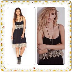 FREE PEOPLE STAR SLIP NWT$128 LARGE Cool off in Free People's free-spirited drop-waist dress. The spaghetti straps lace together at the back to create a sexy cobwebbed effect. Rayon Machine washable Imported Scoop neckline Pullover style Spaghetti straps are laced at back yoke Tiered drop-waist silhouette Lace trim at bust and hem Unlined High-low hem is longer at back Hits below knee Free People Dresses