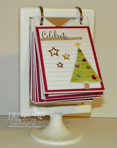Hello December Stampin' Up! Project Life Kit. Advent Calendar. Debbie Henderson, Debbie's Designs.