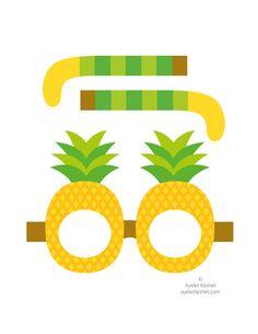 Free printable summer fruit glasses – Ayelet Keshet - My CMS Fruit Birthday, Flamingo Birthday, Flamingo Party, Fruit Party, Luau Party, Party Printables, Free Printables, Theme Carnaval, Mascaras Halloween