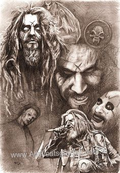 Rob Zombie Collection luv it! Rob Zombie Art, Rob Zombie Film, Zombie Movies, Horror Movies, Zombie Zombie, Sherri Moon Zombie, The Devil's Rejects, Zombie Tattoos, White Zombie