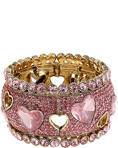 BetseyJohnson.com- ICONIC PINKALIOUS HEART WIDE BANGLE FUSCHIA
