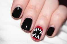 Tutorial: How To Create Vampire Nails For Halloween ~ Makeup, Beauty & Fashion