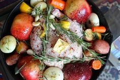 Roasted Chicken with Apples and Sage by thechicbrulee  #  apples