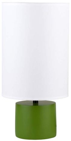 Lights Up! Green with White Devo Round Table Lamp  #EuroStyleLighting #ColoroftheYear #Emerald #Sweepstakes