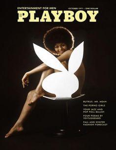 Playboy Magazine cover, photo by Richard Fegley / October 1971.-