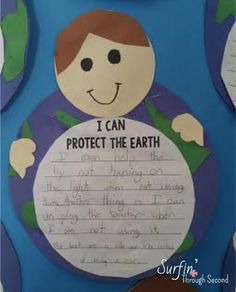 Cute Writing Activity and Craft freebie for Earth Day Earth Day Activities, Spring Activities, Writing Activities, 2nd Grade Math, Second Grade, Earth Day Information, List Of Planets, Cute Writing, Earth Day Crafts