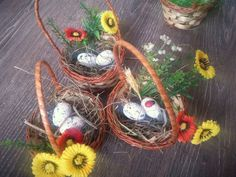 Easter holiday baskets for gift or table decoration, easter decor, Easter decoration