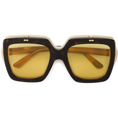 b2d749a85e8 Gucci oversized flip-up sunglasses ( 695) ❤ liked on Polyvore featuring  accessories