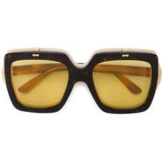 9a91b5fa240 Shop Gucci Eyewear oversized flip-up sunglasses at Browns.