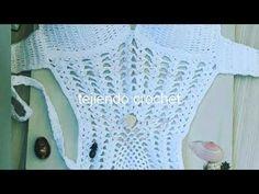 Traje de baño Trikini a crochet/ Crochet pineapple monokini - YouTube