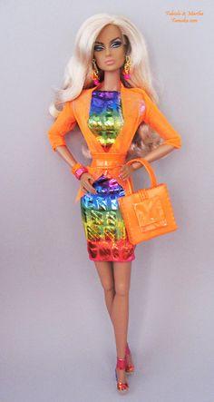 Reptile Rainbow Foil Mini Fashion w/ Shoes  For Fashion Royalty and Silkstone Barbie