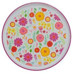Round Floral Dinner Plate Pink - Circo™ : Target