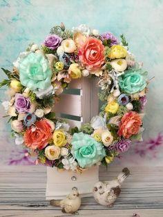 Skupina - Urob si sám Floral Wreath, Wreaths, Home Decor, Floral Crown, Decoration Home, Door Wreaths, Room Decor, Deco Mesh Wreaths, Home Interior Design