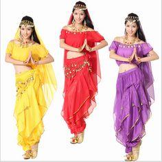 5 pcs costume danse du ventre costume bollywood indien de robe robe danse orientale danse du ventre costume des femmes jupe ensembles. tribales. 6 couleur