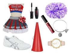 """Cheerleader"" by hcps-cleghorse ❤ liked on Polyvore featuring tarte, Kate Spade and Asics"
